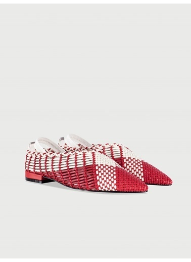 Ipekyol Kırmızı Örme Color Block Ayakkabı Kırmızı